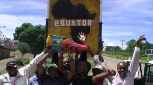 Kenia über den Äquator